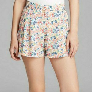 French Connection Floral Pleated Dress Shorts